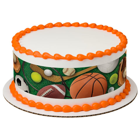 A Birthday Place - Cake Toppers - Sports Strips Edible Cake Topper Image
