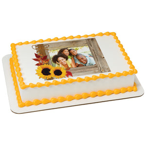 A Birthday Place - Cake Toppers - Rustic Fall Edible Cake Topper Frame
