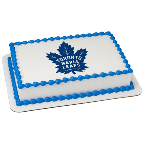 NHL® Toronto Maple Leafs Team Edible Cake Topper Image
