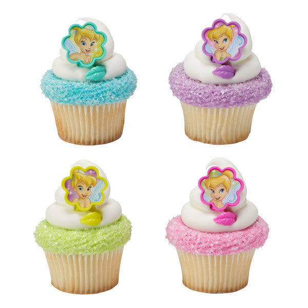 A Birthday Place - Cake Toppers - Tinker Bell I Believe in Fairies Cupcake Rings