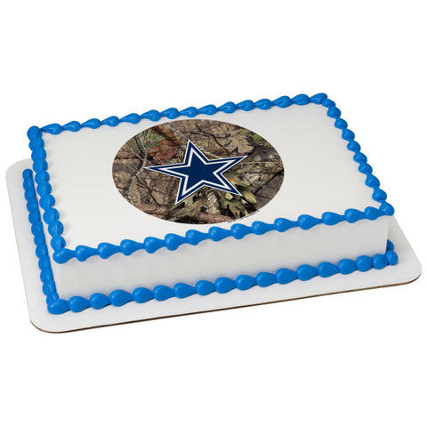 NFL Dallas Cowboys Mossy Oak® Edible Cake Topper Image