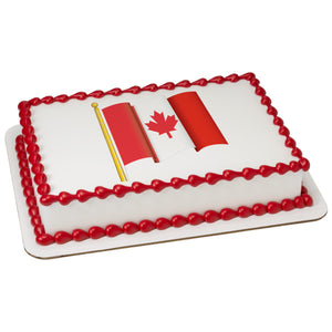 A Birthday Place - Cake Toppers - Canadian Flag Edible Cake Topper Image