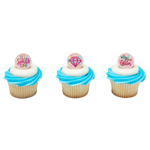 Get Your Sparkle On! Cupcake Rings