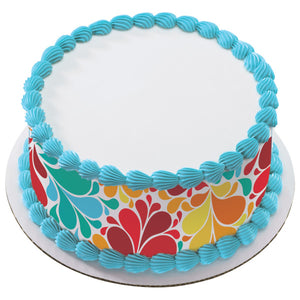 A Birthday Place - Cake Toppers - Color Burst Edible Cake Topper Image Strips