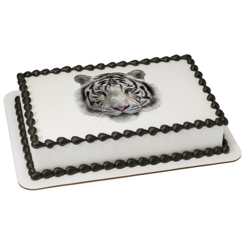 White Tiger Edible Cake Topper Image