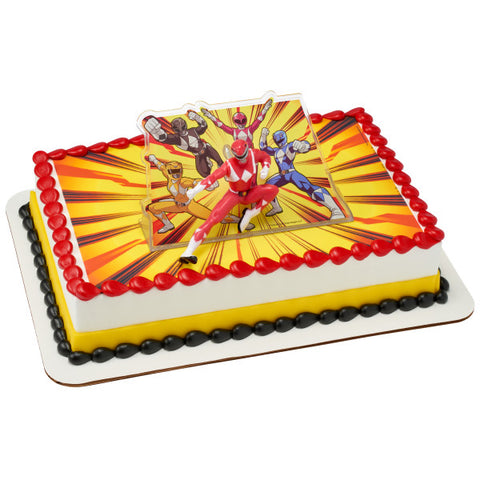 Power Rangers™ It's Morphin Time Edible Cake Topper Image DecoSet® Background