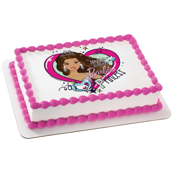 "A Birthday Place - Cake Toppers - Barbie""¢ Party Princess Edible Cake Topper Image"