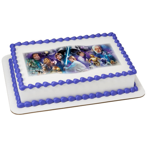 Star Wars™ A Galaxy Far, Far Away Edible Cake Topper Image