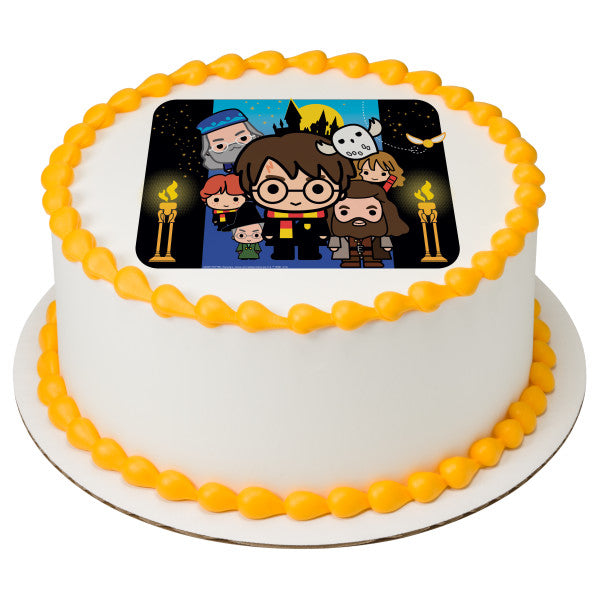 Harry Potter and Friends Edible Cake Topper Image