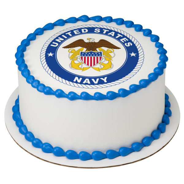United States Navy Edible Cake Topper Image