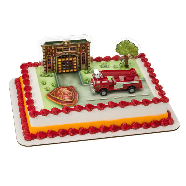 Fire Truck and Station DecoSet®