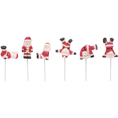 A Birthday Place - Cake Toppers - Tumbling Santas DecoPics®