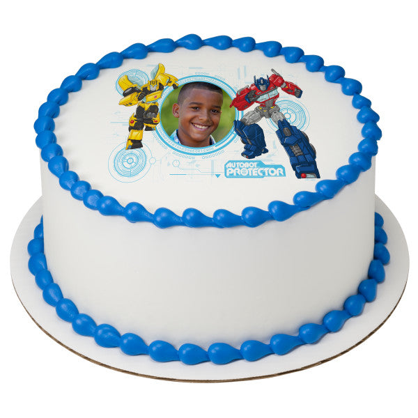 Transformers™ Defend Until the End Edible Cake Topper Image Frame
