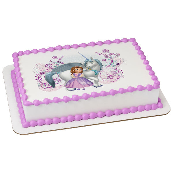 Fabulous Sofia The First Sofia And Skye Edible Cake Topper Image A Personalised Birthday Cards Cominlily Jamesorg