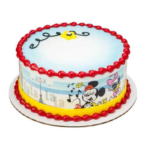A Birthday Place - Cake Toppers - Mickey & Friends Mickey Shorts Edible Cake Topper Image Strips