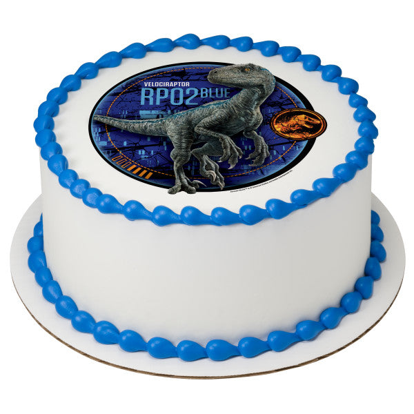 Jurassic World 2 Blue Edible Cake Topper Image A