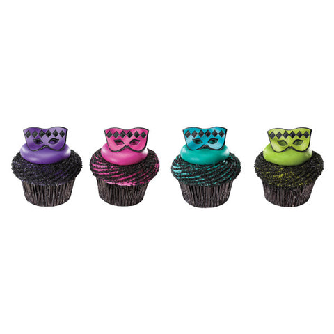 A Birthday Place - Cake Toppers - Masquerade Mask Cupcake Rings