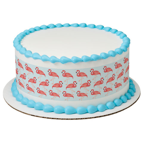 A Birthday Place - Cake Toppers - Flamingo Edible Cake Topper Image Strips