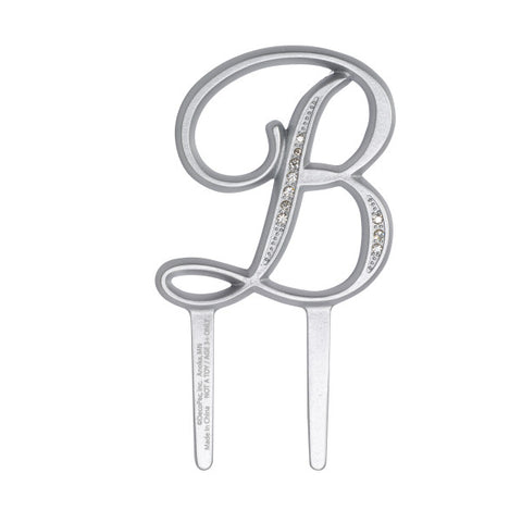 "A Birthday Place - Cake Toppers - 2.5"" B Diamond Letter Monogram"