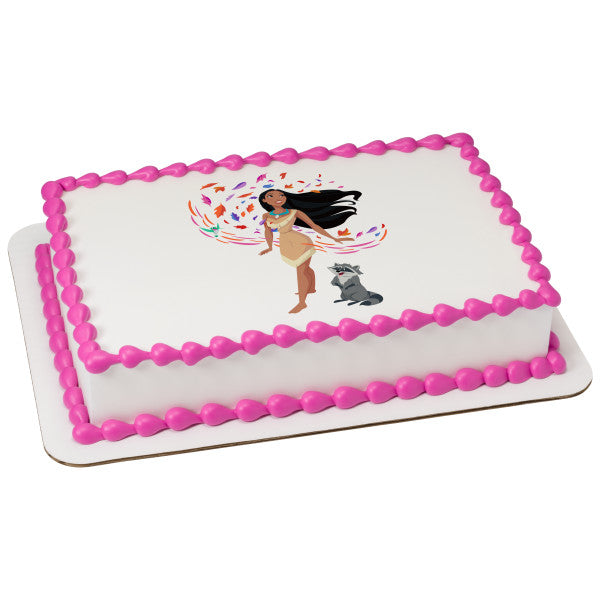 Super Disney Princess Pocahontas Edible Cake Topper Image A Birthday Place Personalised Birthday Cards Cominlily Jamesorg