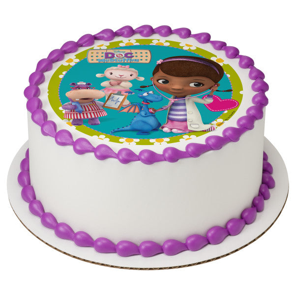 Awe Inspiring Doc Mcstuffins Doc And Friends Edible Cake Topper Image A Birthday Cards Printable Nowaargucafe Filternl