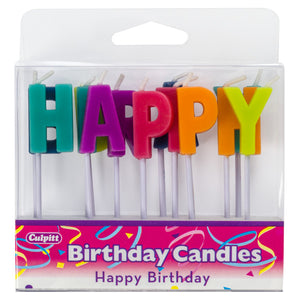 Happy Birthday Letters Specialty Candles