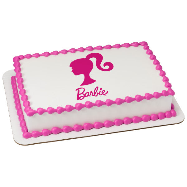 Barbie Silhouette Edible Cake Topper Image