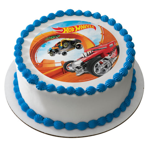 A Birthday Place - Cake Toppers - Hot Wheels Steer Clear Edible Cake Topper Image