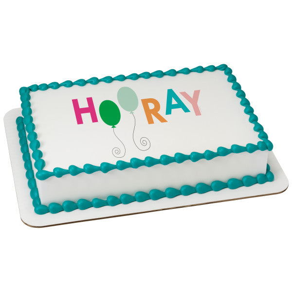 A Birthday Place - Cake Toppers - Hooray Edible Cake Topper Image