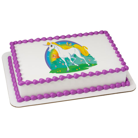 A Birthday Place - Cake Toppers - Unicorn Edible Cake Topper Image