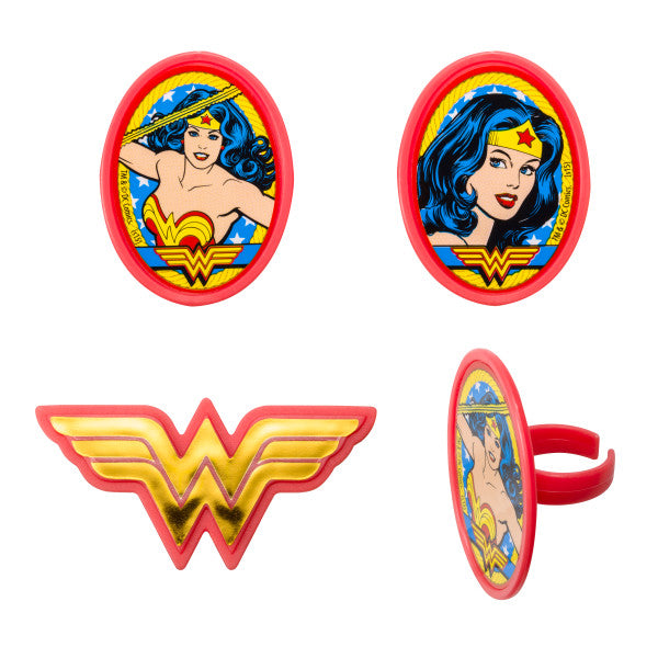Wonder Woman™ Amazing Amazon Cupcake Rings