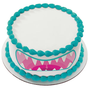 A Birthday Place - Cake Toppers - Monster Mouth Red Edible Cake Topper Image