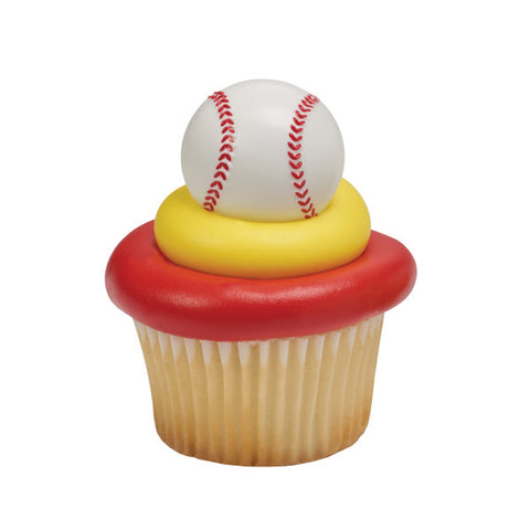 A Birthday Place - Cake Toppers - 3D Baseball Cupcake Rings