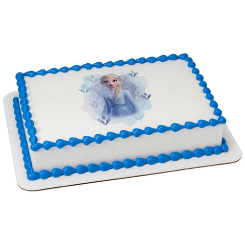 Disney Frozen II Elsa Edible Cake Topper Image