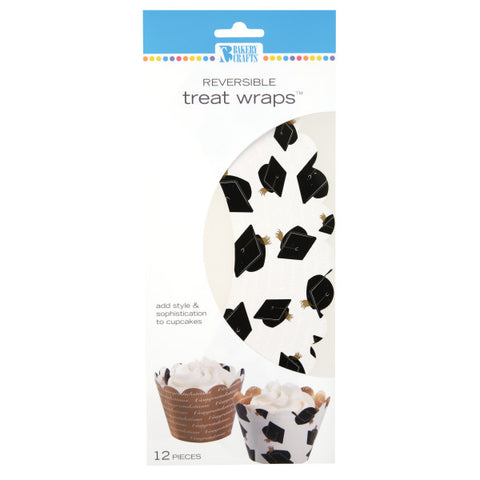 White Graduation Treat Wraps®