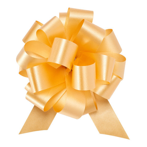 "A Birthday Place - Cake Toppers - 4"" Gold Flora Satin Perfect Bow Ribbon"