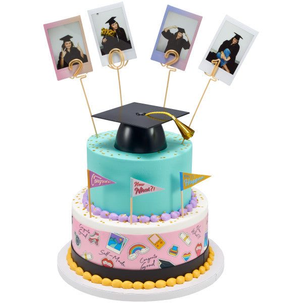 Self Made Edible Cake Topper Image Strips
