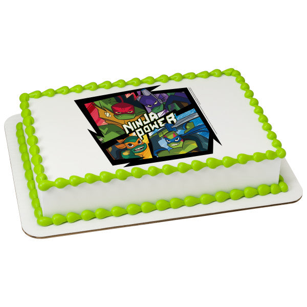 Teenage Mutant Ninja Turtles™ Ninja Power Edible Cake Topper Image
