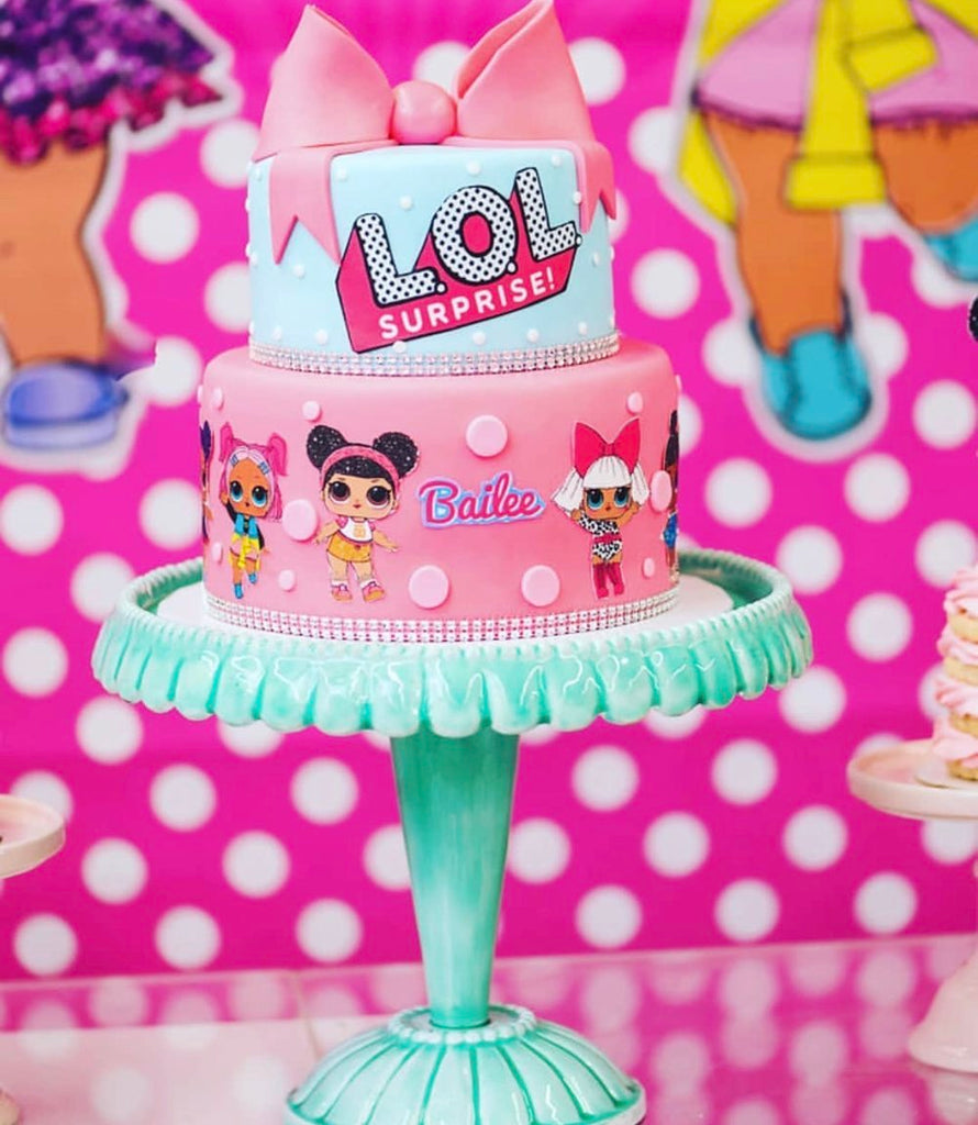 Dolls Bow And Polka Dots Cake Topper Kit A Birthday Place