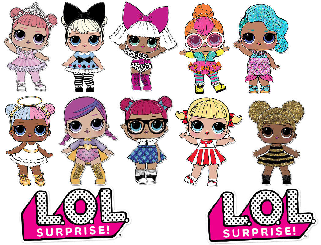 Lol Surprise Dolls Bow And Polka Dots Cake Topper Kit