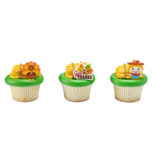 Harvest Friends Cupcake Rings