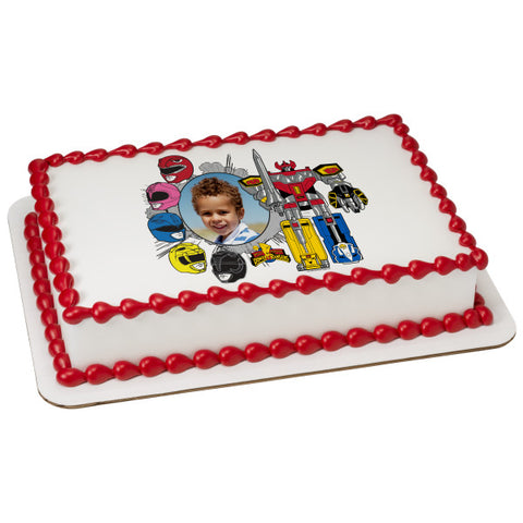 A Birthday Place - Cake Toppers - Power Rangers Power! Edible Cake Topper Frame
