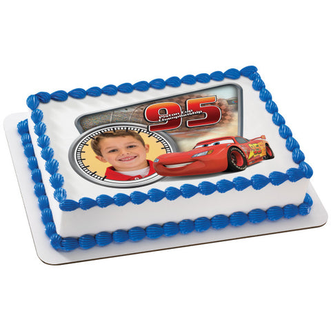 Cars Piston Cup Championship Edible Cake Topper Image Frame