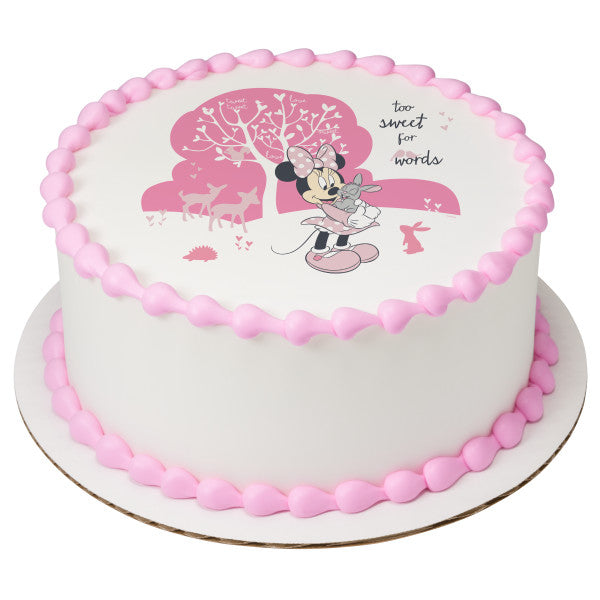 Minnie Too Sweet Edible Cake Topper Image