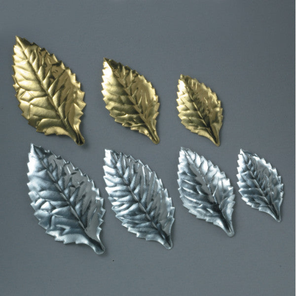 "2 1/8"" Gold Foil Rose Leaves Foil Leaves"