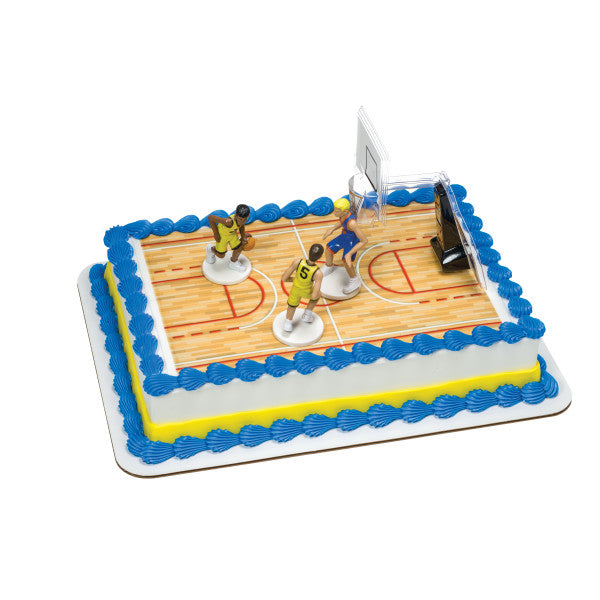 Basketball-All Net Edible Cake Topper DecoSet® Background