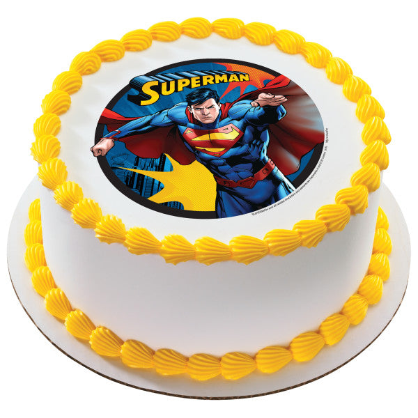 Superman™ Up, Up and Away Edible Cake Topper Image