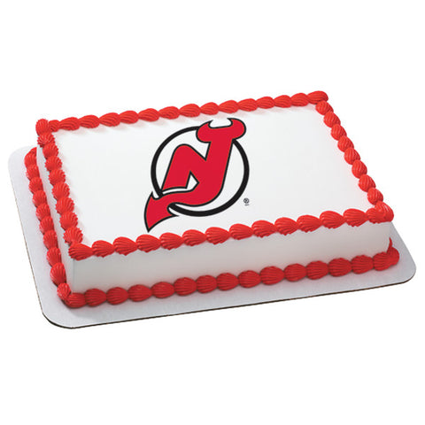 NHL® New Jersey Devils Team Edible Cake Topper Image