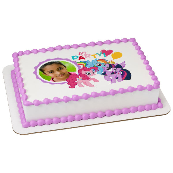 A Birthday Place - Cake Toppers - My Little Pony Let's Party Edible Cake Topper Frame