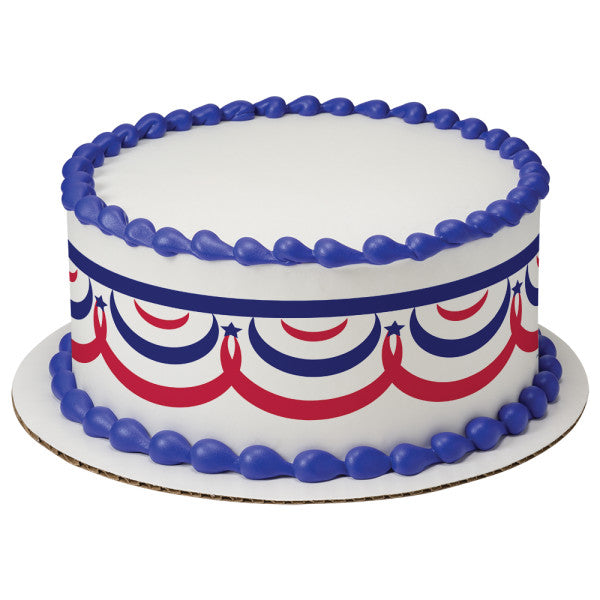 A Birthday Place - Cake Toppers - Patriotic Banner Edible Cake Topper Image Strips